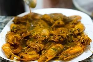 Restaurant Zemmouri Courbet Marine crevvette provencale